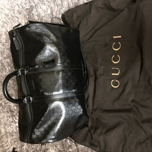 Gg Imprime Duffle Coated Canvas Weekend/Travelbag